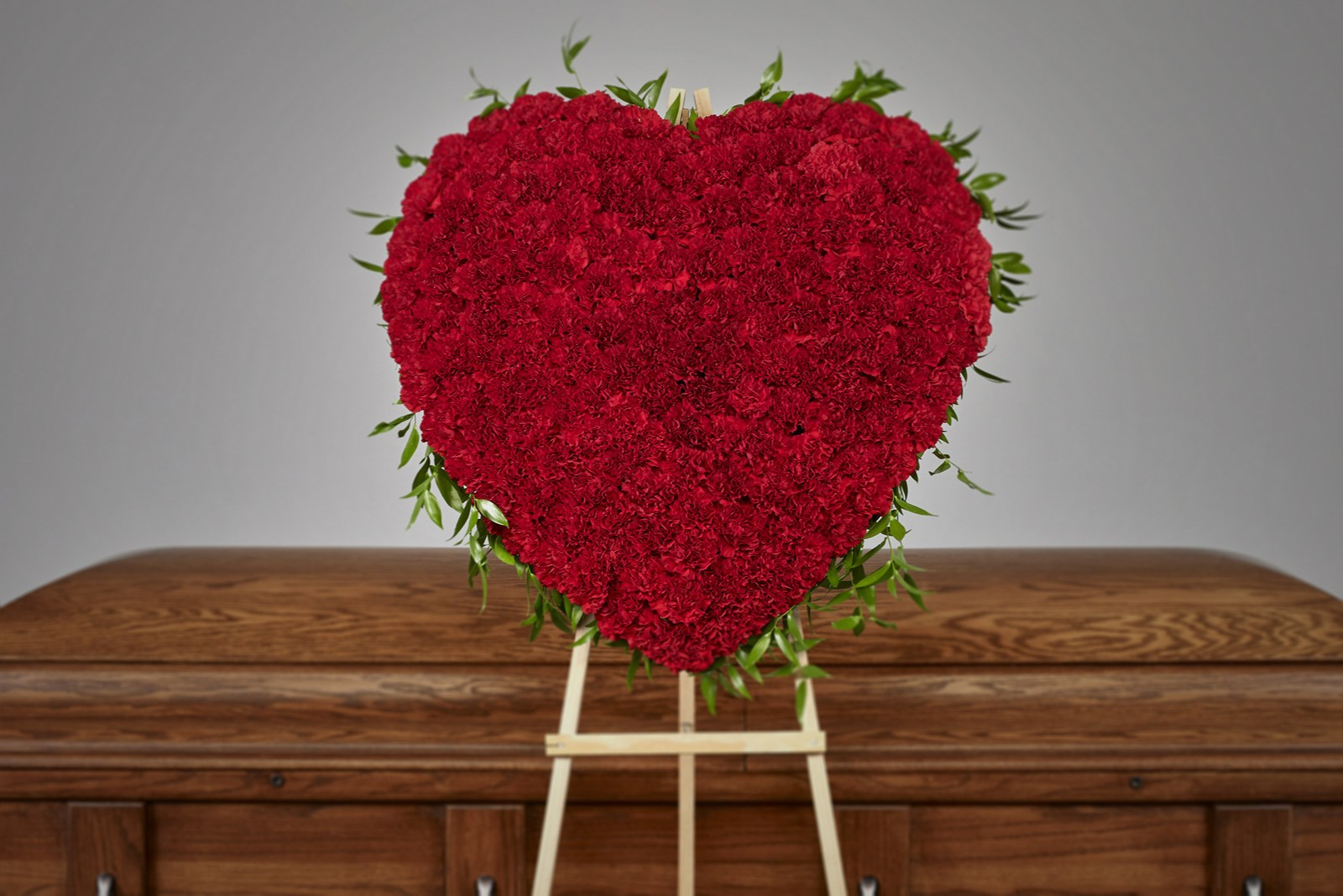 Solid Carnation Red Heart