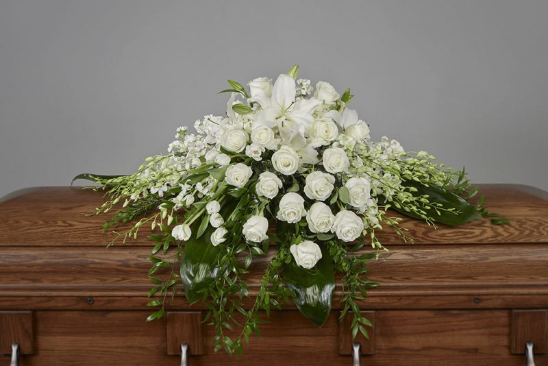 1A Casket 800x534 - White Casket Spray
