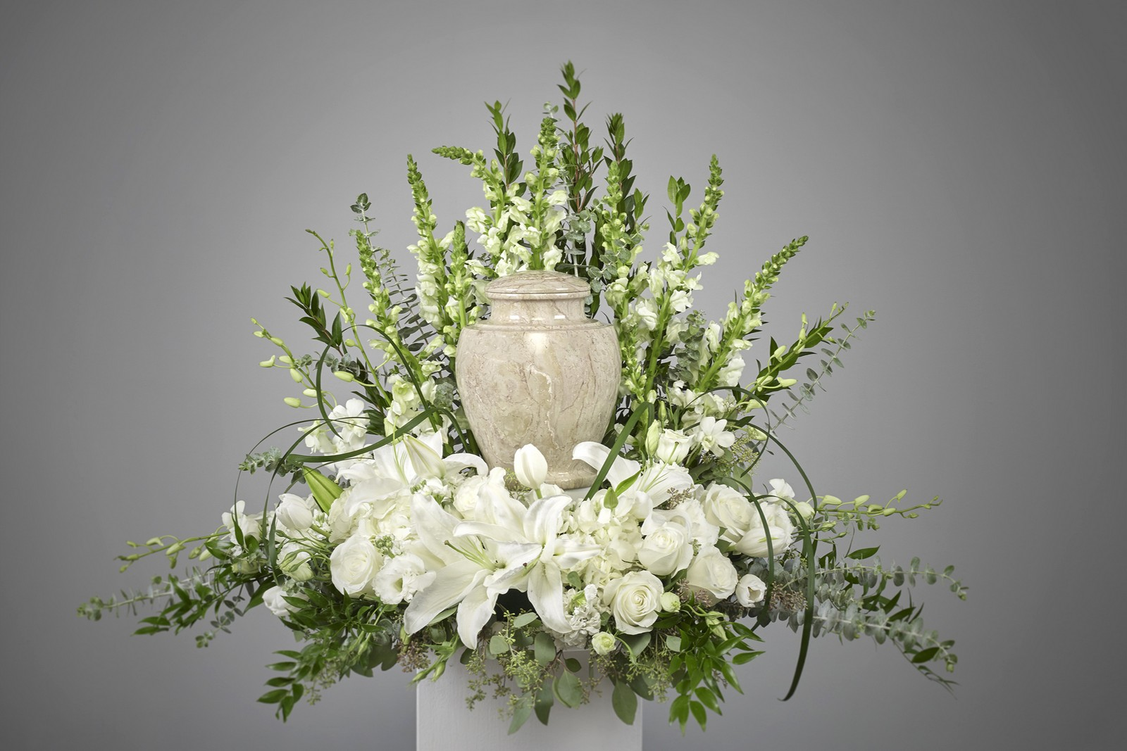 White Cremation Arrangement
