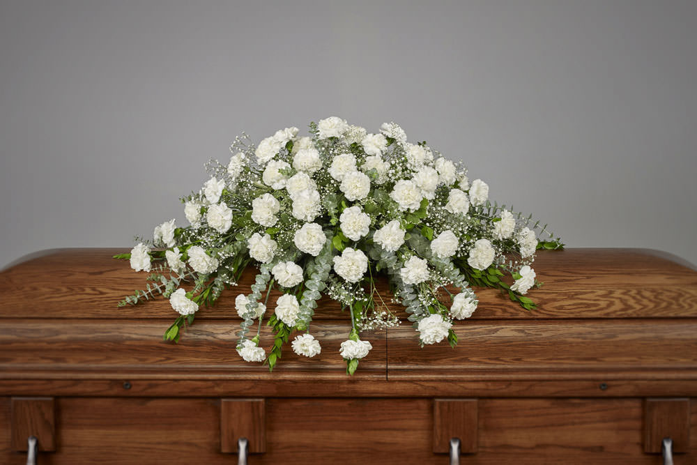 Carnation Casket - Carnation Casket Spray