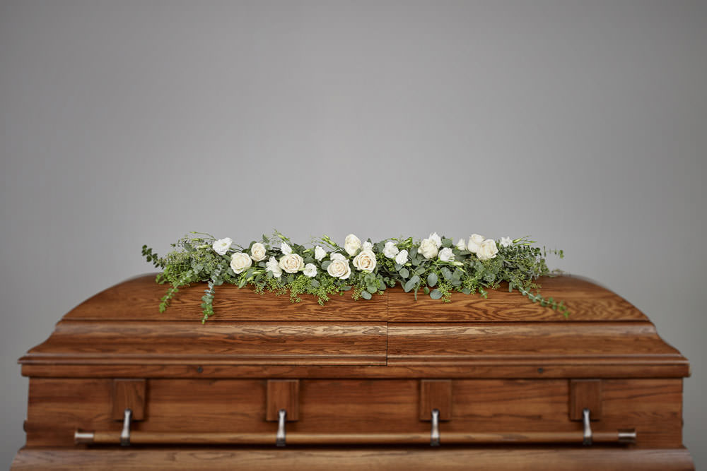 Garland - Rose and Eucalyptus Casket Garland