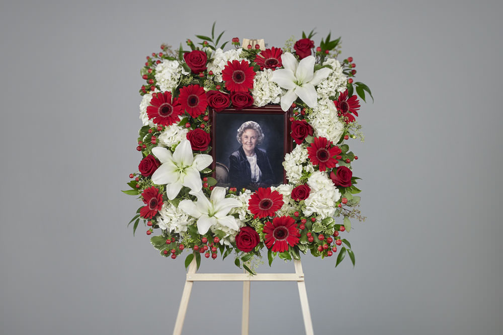 Grandmother frame - Red & White Picture Frame Easel