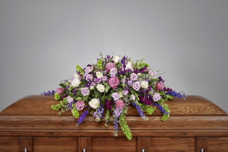 Purple Casket 800x534 - Purple Casket Spray