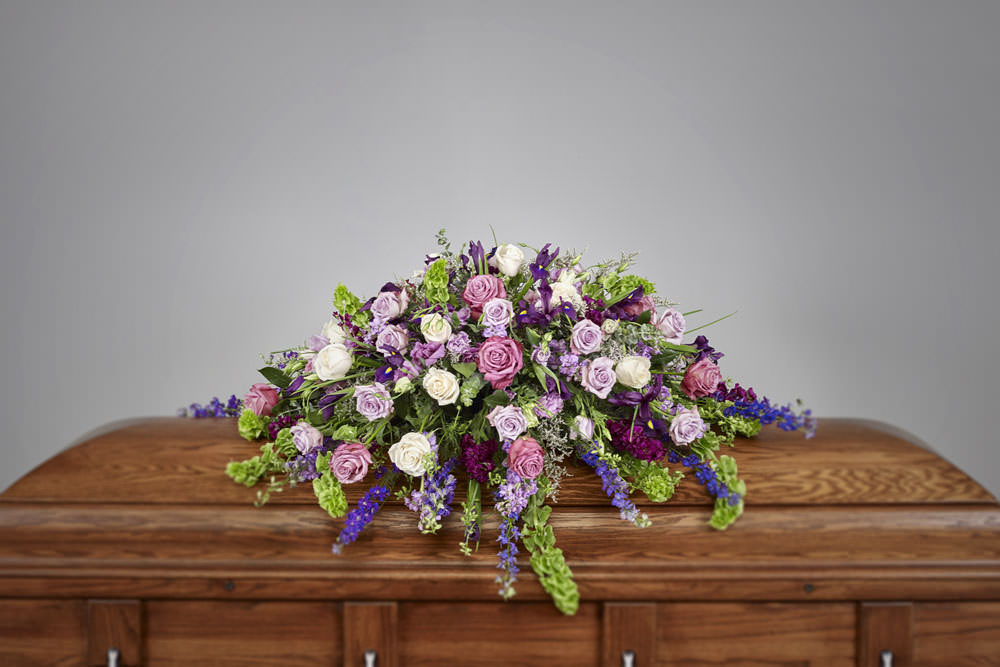 Purple Casket - Purple Casket Spray