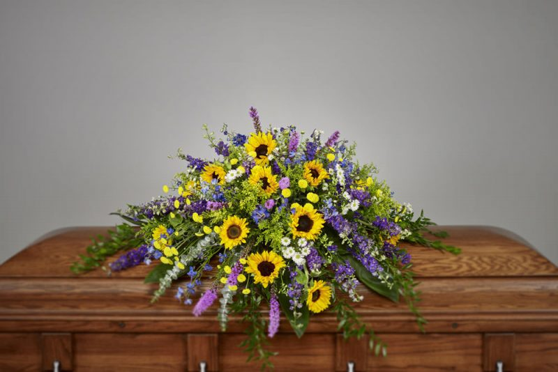 Sunflower casket 800x534 - Sunflowers Casket Spray