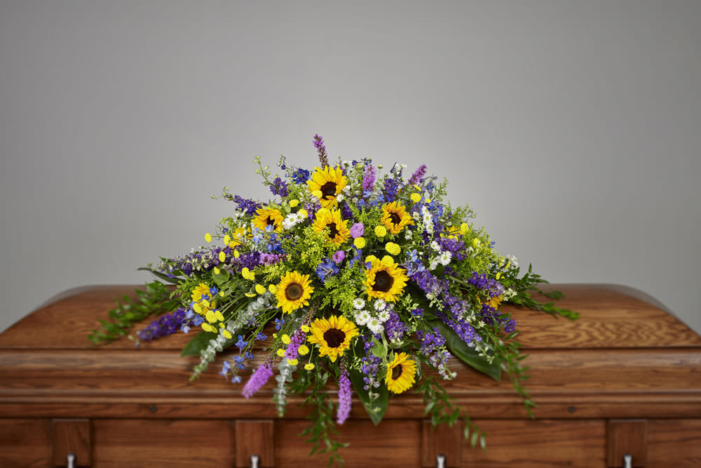 Sunflower casket - Sunflowers Casket Spray