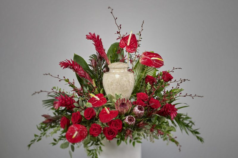 Tropical Red Urn