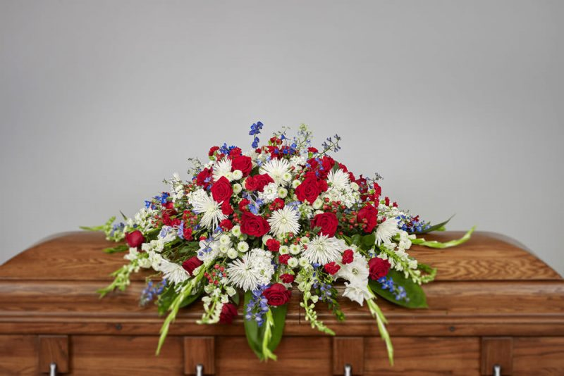 VA Casket 800x534 - Patriotic Casket Spray