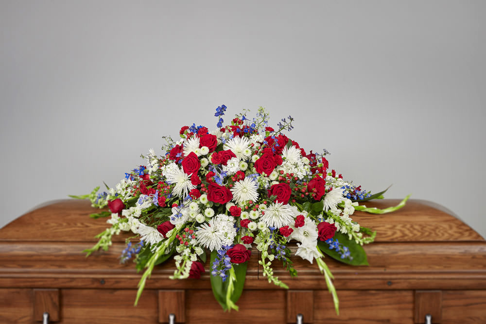 VA Casket - Patriotic Casket Spray
