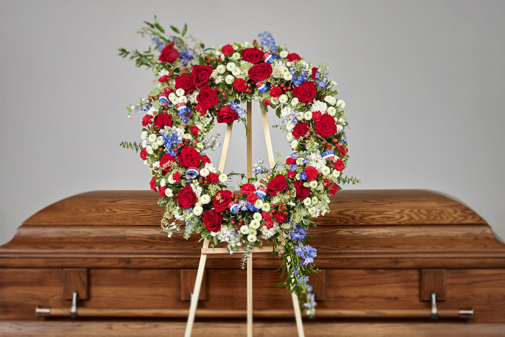 VA wreath - Patriotic Wreath Easel