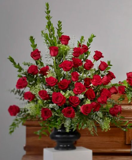 Vase1 442x534 - Rose Collection Arrangement