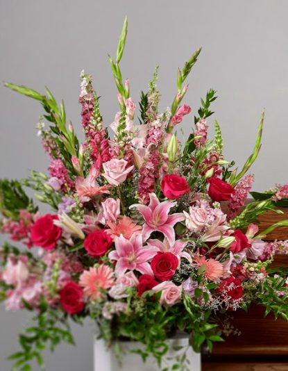 pink package112 vase arrangements 415x534 - Pink Collection Arrangement