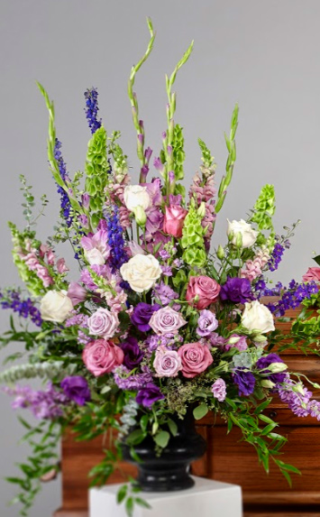 purple package vase arrangements - Purple Collection Arrangement