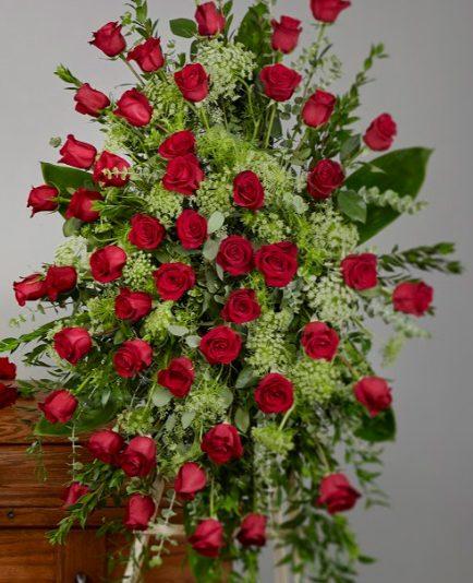 rose casket 434x534 - Roses Easel