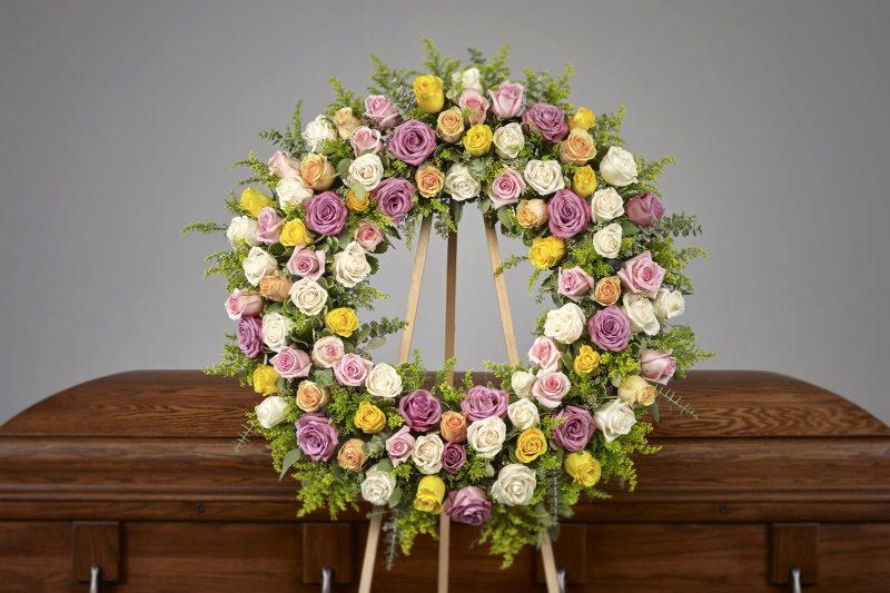 Pastel Rose Wreath 800x533 - Pastel Rose Wreath