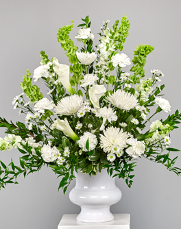 White Vase Arrangement - White Vase Arrangement